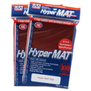 Japanese Card Sleeves - Hyper Matte Red USA Pack(100) Thumb Nail