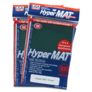 Japanese Card Sleeves - Hyper Matte Green USA Pack(100) Thumb Nail