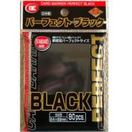 Japanese Card Sleeves - Perfect Size - Black (80) Thumb Nail