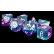 Poly 7 Dice Set: Aurora - Blue Thumb Nail