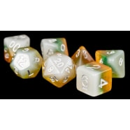 Poly 7 Dice Set: Kiwi Resin Thumb Nail