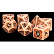 Poly 7 Dice Set: Ancient Brown Resin Thumb Nail