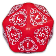 D20 Spindown Life Counter(1) - Red/White Thumb Nail