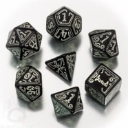 Poly 7 Dice Set: Call of Cthulhu RPG - Black-glow-in-the-dark Thumb Nail