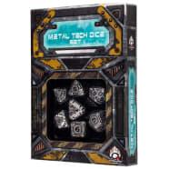 Poly 7 Dice Set: Metal Tech Thumb Nail