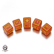 Battle Dice Set Orc D6 (5) - Red/Yellow Thumb Nail