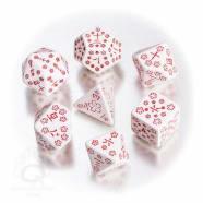 Poly 7 Dice Set: Japanese - White/Red Thumb Nail