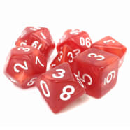 Dice - Berserkers Rage (7) Red Pearl Opaque RPG 16mm Thumb Nail