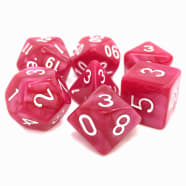 Dice - Coral Grief (7) Rose Pearl Opaque RPG 16mm Thumb Nail