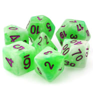 Poly 7 Dice Set: Sylvan Glade - Green Pearl Opaque Thumb Nail