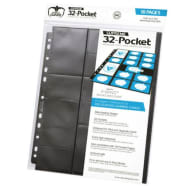 Ultimate Guard - 32-Pocket Standard Size & Mini American Pages - Black (10) Thumb Nail
