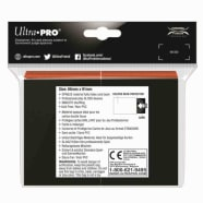 Ultra Pro Sleeves - 100 count - Standard Sized - Gloss Eclipse Pumpkin Orange Thumb Nail