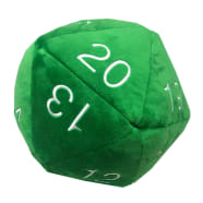Jumbo d20 Plush Dice - Green Thumb Nail