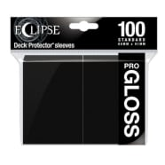 Ultra Pro Sleeves - 100 count - Standard Sized - Gloss Eclipse Jet Black Thumb Nail