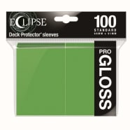 Ultra Pro Sleeves - 100 count - Standard Sized - Gloss Eclipse Lime Green Thumb Nail
