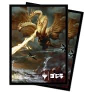 UltraPro Deck Protector - Magic - Ikoria Godzilla Alternate Art - Ghidorah, King of the Cosmos Thumb Nail