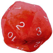 Jumbo d20 Plush Dice - Red Thumb Nail