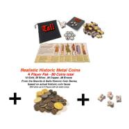 Tali Basic Set (6 player) + 80 Historic Metal Coins Thumb Nail