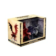 Pathfinder Battles: City of Lost Omens Premium Figure Adult Red & Black Dragons Thumb Nail