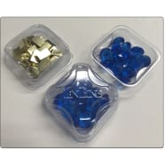 Zen Bins: 2-in-1 Token Trays 10-Pack (Clear) Thumb Nail