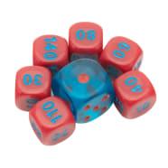 Pokemon - League Battle Deck Red/Blue Dice Set of 6 + Bonus Die Thumb Nail