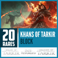 20 Khans of Tarkir Block Magic Rares Thumb Nail