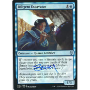 Diligent Excavator FOIL Signed by Mark Behm Thumb Nail