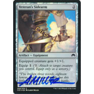 Veteran's Sidearm FOIL Signed by Aaron Miller (Magic Origins) Thumb Nail