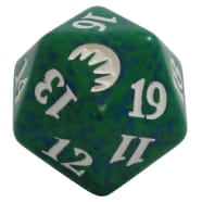 Magic Origins - D20 Spindown Life Counter - Green Thumb Nail