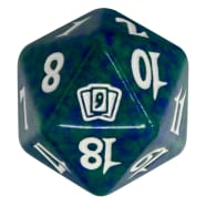 Ninth Edition - D20 Spindown Life Counter - Green Thumb Nail