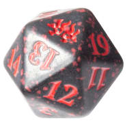 Ravnica Allegiance - Rakdos - D20 Spindown Life Counter - Black w/Red Thumb Nail