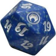 Scars of Mirrodin - D20 Spindown Life Counter - Blue Thumb Nail