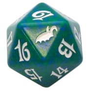 Shadowmoor - D20 Spindown Life Counter - Green Thumb Nail