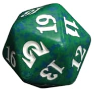 Shadows over Innistrad - D20 Spindown Life Counter - Green Thumb Nail