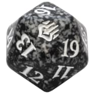 War of the Spark - D20 Spindown Life Counter - Black Thumb Nail