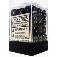 12mm d6 Dice Block: Borealis Smoke w/Silver Thumb Nail
