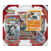 Pokemon - SM Crimson Invasion 3 Booster Blister (Lucario) Thumb Nail