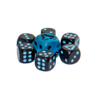 Pokemon - SM Ultra Prism Blue/Black Dice Set of 6 + Bonus Die Thumb Nail