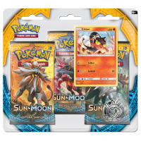 Pokemon - Sun & Moon 3 Booster Blister (Litten) Thumb Nail