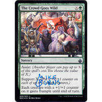 The Crowd Goes Wild FOIL Signed by Mike Burns Thumb Nail