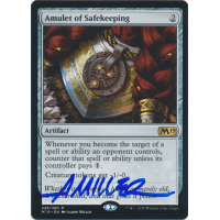 Amulet of Safekeeping Signed by Aaron Miller (Core Set 2019) Thumb Nail