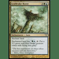 MTG Magic Uncommon Leafdrake Roost Dissension Foil Near Mint