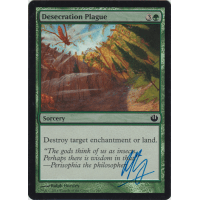 Desecration Plague FOIL Signed by Ralph Horsley Thumb Nail
