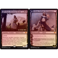 Liliana, Heretical Healer // Liliana, Defiant Necromancer Thumb Nail
