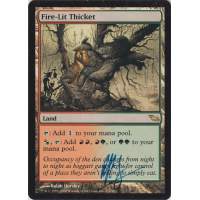 Fire-Lit Thicket Signed by Ralph Horsley Thumb Nail