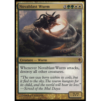 Magic MTG Excellent+ Novablast Wurm ~ Worldwake