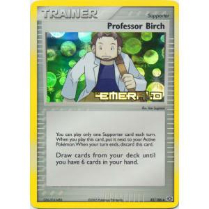 Professor Birch 82//106 Uncommon Reverse Holo Near Mint Ex Emerald