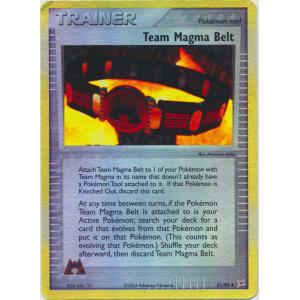 Team Magma Belt - 81/95 (Reverse Foil)