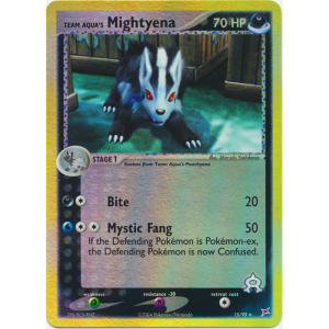 Team Aqua's Mightyena - 15/95 (Reverse Foil)