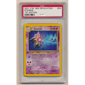Starmie - Graded Neo Revelation First Edition 25/64